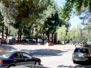 Plenty of Parking in Ferndell Park on the left