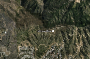 GoogleEarthViewHollywoodSign